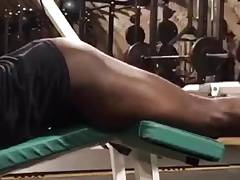 Black teen gym session