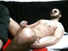 Bearded Big Dick Stud Jerks Off & Cums