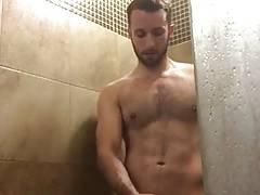 Hot hairy shower jerk