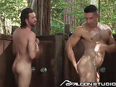 Woody Fox Showers with Beefy Latin Hunk