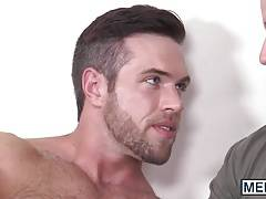 Hairy hunk drilled by his dazzling lover