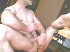 Fit Guy Jacking and Fingering