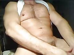 Hot Thick Muscle Daddy Jerk Off & Cum