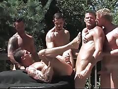 Brendan Austen, Martin Mazza, Dean Monroe, and Derrick Hanso