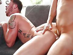 Naughty gay dude Max Wilde adores to be pounded roughly