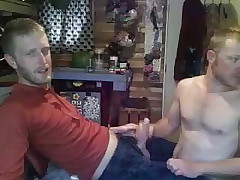 Boyfriends fuck on a chair