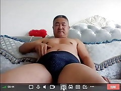 Chinese dad jerks off