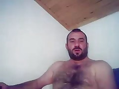 Turkish Bear Measuring Up His Cock