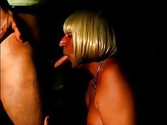 mature crossdresser suck a friend and receives a big cumshot