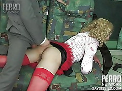 Hot Gay SiSSy - maid with red nylon
