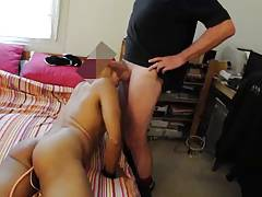 pumping my hole while I suck his fat cock