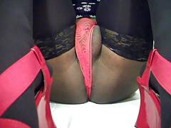 Red high heels & Black pantyhose