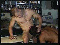 In the hunk bar