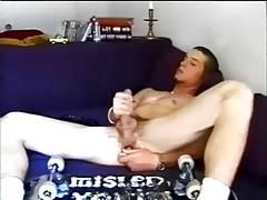 Perfect skateboarder uses a dildo