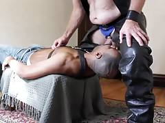 White Master fucks black ass bareback