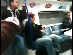 caught jackn on train