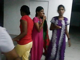 Tamil school dolls in night sundress at hostel