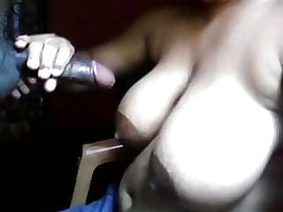 wifey blowing my manmeat till jism on her milkcans