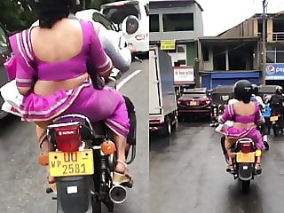 saree in a bike