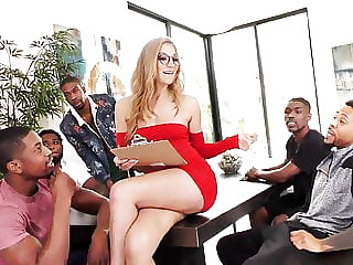Moka Mora Gets Creampied After Bigblackcock Gang-bang