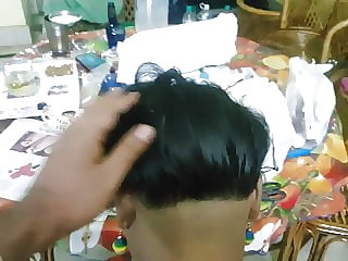 Friend's Mom's nape bald and prepping for abuse