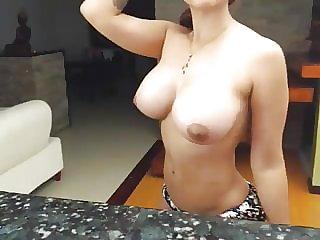 Sexy Jugs Showcasing Indian Looking Nubile