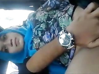 Desi educator Bhabhi twat frigging in car by beau shrieking