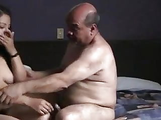 Indian prostitude lady nailed by oldman in motel room.