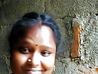 South indian tamil nymph demonstrates hooter selfie for Boyfriend