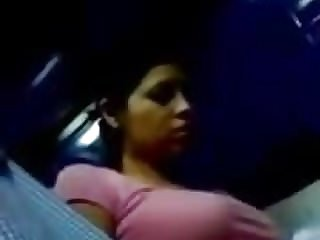 Big-boobed Juggling Baps on Bus