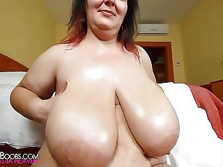 unexperienced greases her immense innate mammories 1080p