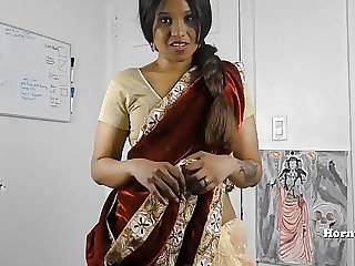 HornySouth Indian  in law roleplay in Tamil with slaves