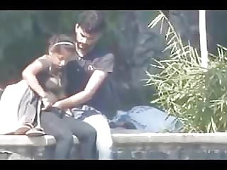 Desi duo having dt and finger-tickling in public park