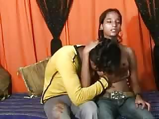 youthfull Indian Duo Shag At Home