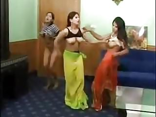 3 marvelous indian damsels undress dance bare