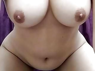 Marvelous round nymph taunting on webcam