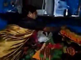 Satin Silk Saree Aunty