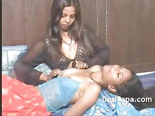 Indian Youthfull G/g Femmes Caressing Each Other