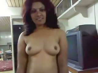 Nice huge-boobed Desi stunner gets pummeled