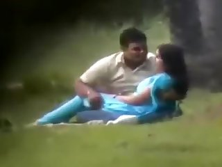 Desi Lovers in Park Chap Toying With Her Pantoons