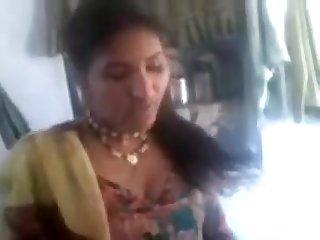 Stunning North Indian Aunty's Humid Violate and Billibongs Flash