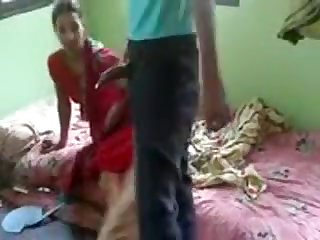 Real desi bhabhi pulverized by her devar secretly at home