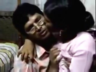 Indian dude makes out with a maid and gobbles her all-natural baps