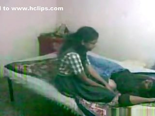 Lovely nerdy glassed indian damsel makes a sextape
