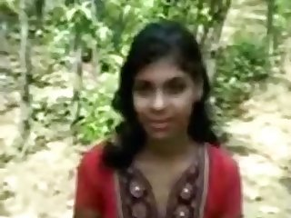 Naught indian female has premarriage hump in the woods