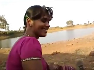 Desi indian oralpleasure  outdoor with beau