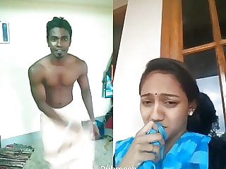 Dubmash Tamil by Tamil Aunty with showcasing tits