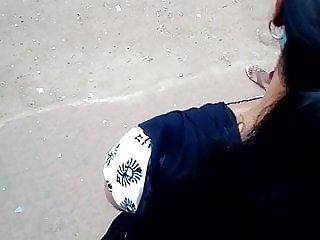tamil college woman deep bumpers bosom in public