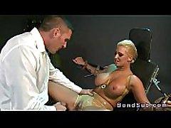 Huge breasts blonde slave banged in bdsm