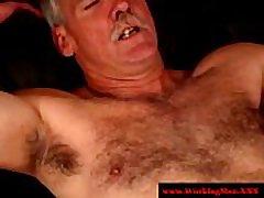 Redneck hairy bears sucking hard cock